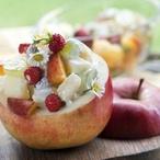 Ovocný salát se zakysanou smetanou