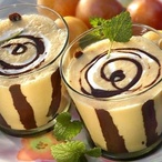 Broskvový koktejl s čokoládou
