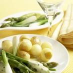 Zámecké brambůrky s jarní zeleninou