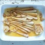 Pečená petržel s medem a česnekem