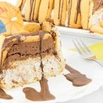 Zuccotto - Piškotový dort plněný šlehačkou a čokoládou