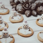Tající sušenkoví sněhuláci (cca 25 ks)