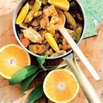 Kuřecí čína s pomerančem