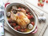 Pečené kuře s česnekem a cherry rajčátky