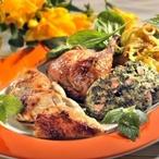 Kuře se špenátovou nádivkou