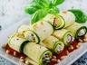 Cuketové rolky s gorgonzolovou omáčkou