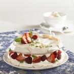 Nebeský bezé dort s ovocem
