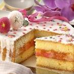 Punčový dort s citronem a polevou