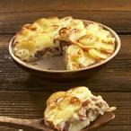 Zapečené brambory s uzeným masem