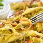 Sýrové knedlíky na cibulce