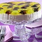 Zasklený dort s vinným želé