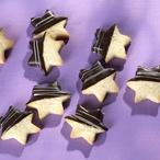 Hvězdičky s čokoládovou polevou