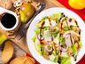 Salát s hruškami a gorgonzolou