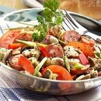 Špekáčkový salát s houbami