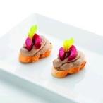 Drůbeží játrové parfait s malinovým rosolem