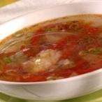 Francouzská papriková polévka s parmazánem