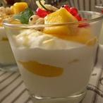 Limetový skleničkový dezert