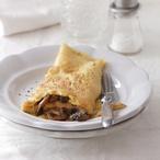 Překládaná omeleta se žampiony