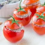 Rajčatové košíčky s krabem
