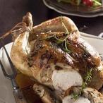 Pečené kuře s ořechovou nádivkou