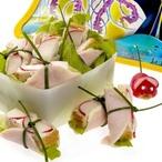 Toustové hranolky se šunkou, ředkvičkami a salátem