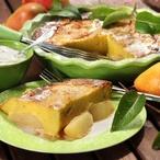 Hrušky zapečené v bramborovém těstě