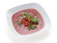 Italský rajčatový krém s bazalkou