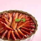 Kreolský koláč s jahodami